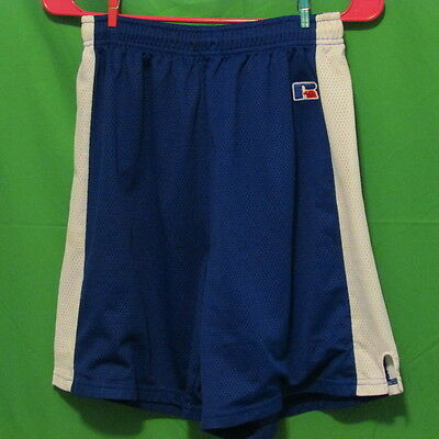 """Russell Athletic Shorts, Medium, Blue and White, Youth, 6.5"""" long basketball"""