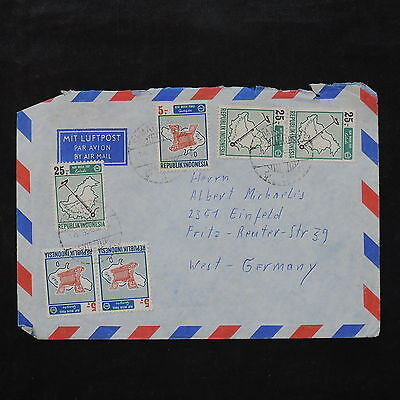 ZS-W039 INDONESIA - Cover, 1969, Great Franking, Airmail To Germany
