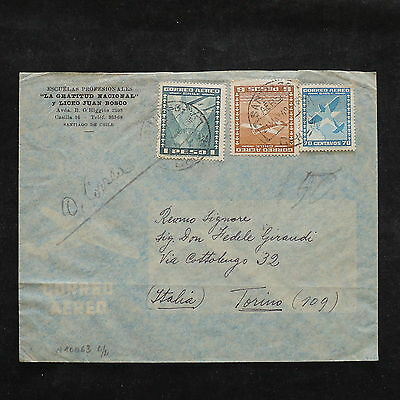ZS-W988 CHILE - Cover, 1949, Airmail To Italy