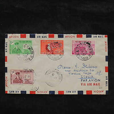 ZS-X064 VIETNAM - Cover, 1962, Airmail To Italy