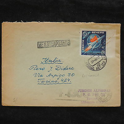 ZS-X098 LITHUANIA - Rocket, 1961, Great Franking To Italy Cover