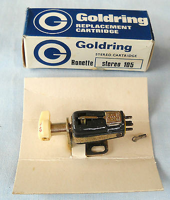 Goldring Stereo 105 Turnover Cartridge With Mount-Nos In Box-33/ 45 / 78-Ronette