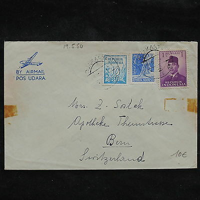 ZS-X185 INDONESIA - Airmail, 1954, Great Franking To Switzerland Cover
