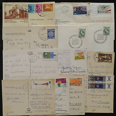 ZS-X231 ISRAEL - Covers, Lot Of 13, With Postcards