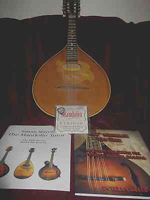 Mandolin, Romanian, with instruction manual, tab book, set of strings