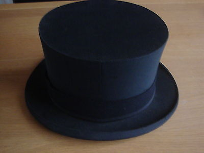 Rare ANTIQUE FOLDING TOP HAT OPERA HAT c1900 With Makers Insignia