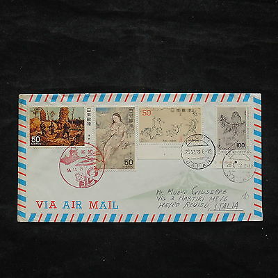 ZS-X333 JAPAN - Paintings, 1979, Art, Great Franking Airmail To Italy Cover