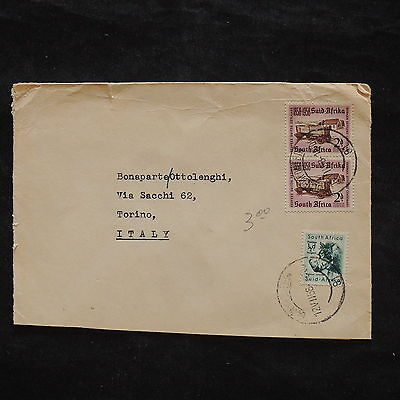 ZS-X372 SOUTH AFRICA IND - Transportation, 1958, Wild Animals, To Italy Cover