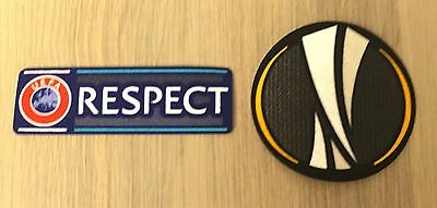 UEFA Europa League Set of UEL and Respect Sleeve Patches - Manchester United