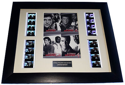 LETHAL WEAPON COLLECTION 35mm FRAMED AND MOUNTED FILM CELL PRESENTATION