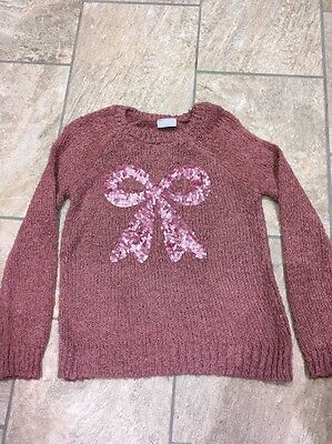 Girls Jumper Aged 10-11 With Sequin Pattern