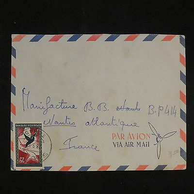 ZS-X863 CHAD IND - Cover, 1968 Airmal To France, Manifacture B.B