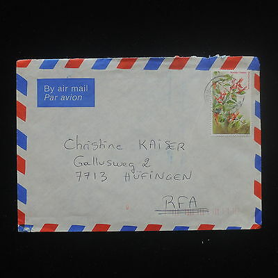 ZS-Y088 FLOWERS - Kenya, Airmail To Germany Cover