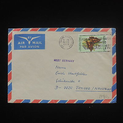 ZS-Y089 BUTTERFLIES - Kenya, 1988, Airmail To Germany Cover