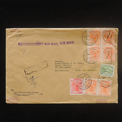 ZS-Y101 PAKISTAN - Registered, Airmail To Switzerland, 1977 Cover