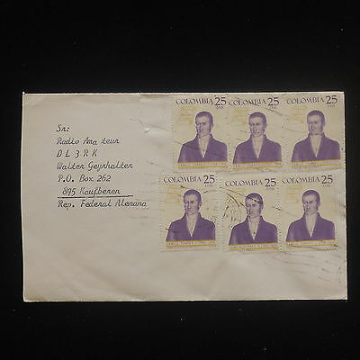 ZS-Y166 COLOMBIA - Cover, 1979, Camilo Torres, Great Franking To Germany