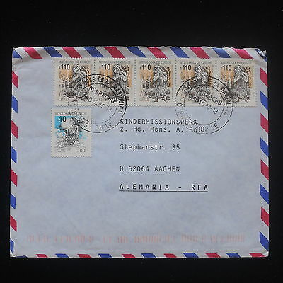 ZS-Y168 CHILE - Strip, 1997, Mythology, Great Franking To Germany Cover