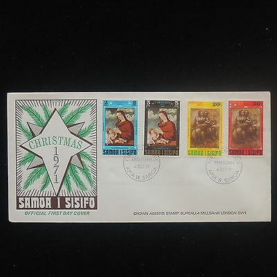 ZS-Y203 SAMOA I SISIFO - Christmas, 1971, Fdc, Religion, Great Franking Cover
