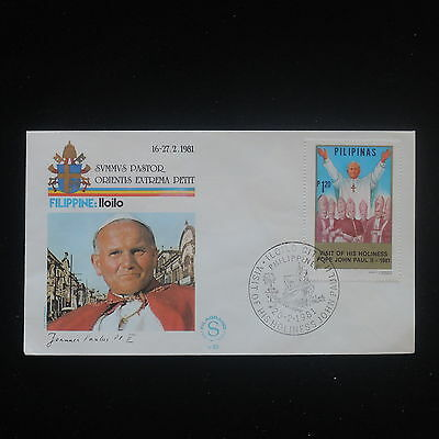 ZS-Y293 PHILIPPINES IND - John Paul Ii, Visit To Lloilo, 1981, Fdc Cover