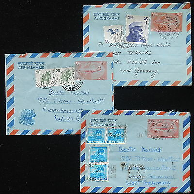 ZS-Y362 INDIA IND - Entire, Stationery, Uprated, Lot Of 3 To Germany Covers