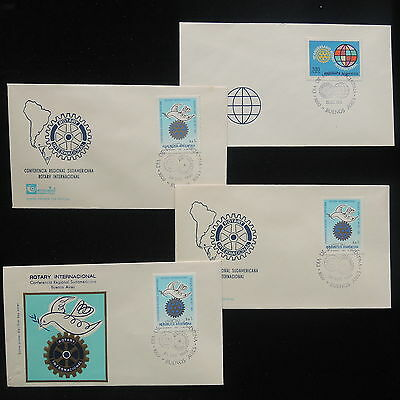 ZS-Y397 ROTARY - Argentina, 1983, Fdc, International, Lot Of 4 Covers