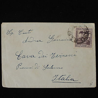 ZS-Y609 BRAZIL - Cover, Great Franking To Italy