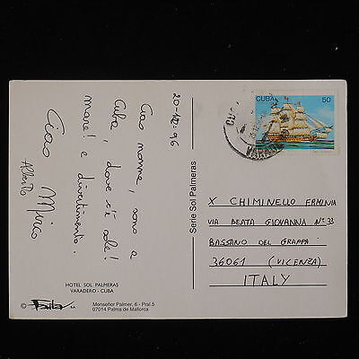 ZS-Y644 SHIPS - Havana, 1996, Great Franking To Italy Postcard