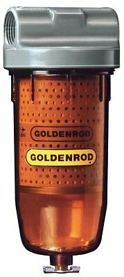 """GOLDENROD 495 Bowl Fuel Tank Filter with 1"""" NPT Top Cap"""