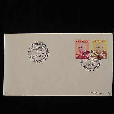 ZS-Y864 TURKEY - Fdc, 1957, Special Cancel, Great Franking Cover