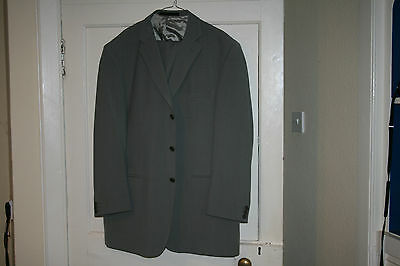 Marks and Spencer Grey Pure New Wool Suit Italian Fabric