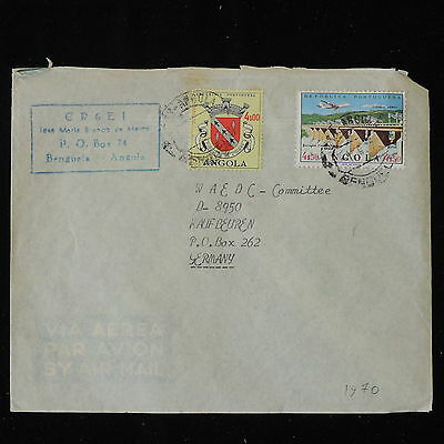 ZS-Y938 ANGOLA IND - Cover, 1970, Airmail To Germany