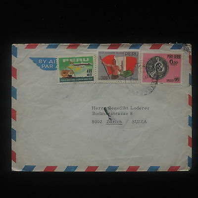 ZS-Y968 PERU - Cover, Airmail To Switzerland