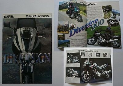 Yamaha Xj900S Xj 900 S Diversion Motor Bike Cycle Brochure 1995
