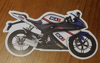 Bca British Car Auctions Motor Bike Motor Cycle Shaped Auction Flyer Leaflet
