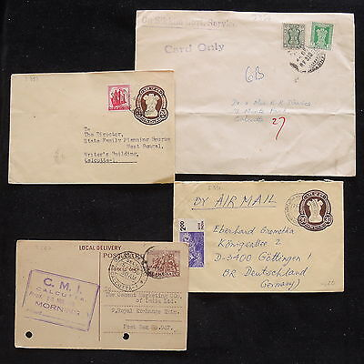 ZS-Z143 INDIA IND - Covers, Lot Of 4, To Calcutta