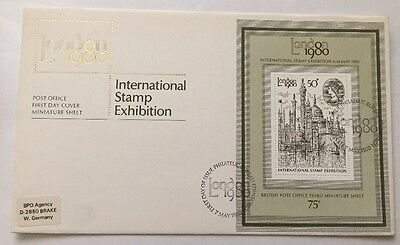 GB QEII First Day Cover, 1980 London International Stamp Exhibition, Bureau SHS