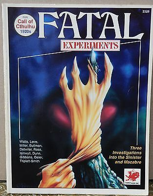 Call of Cthulhu RPG Fatal Experiments 3  1990