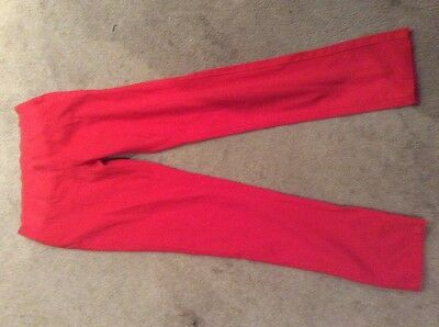 Red maternity trousers
