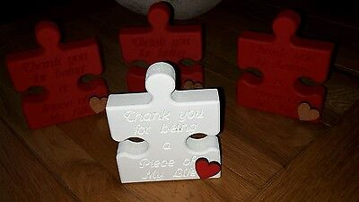 Jigsaw peices wood block quotes Xmas gifts personalised