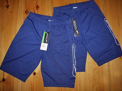 "Speedo Shorts Swimming Gym Swim Endurance Cycle Blue Size M 32"" Unworn- 2 Items*"