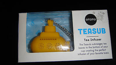 BNIB Ototo TeaSub Yellow Submarine Tea Diffuser.