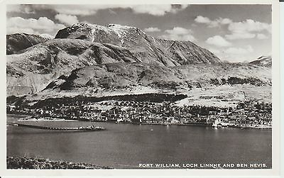 Fort William - Loch Linnie And Ben Nevis - Inverness-Shire - Real Photo Postcard