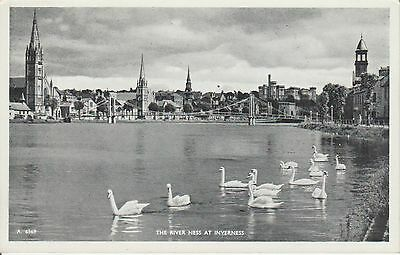 Inverness -The River Ness - Scotland - Real Photo Postcard