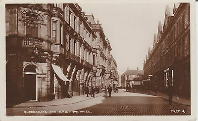 Inverness- Queensgate And Gpo - Scotland - Real Photo Postcard
