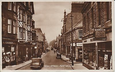 Fort William - High Street - Inverness-Shire - Real Photo Postcard