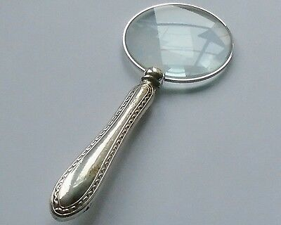 TW&S HM Silver Handle Magnifying Glass Sheffield 1919