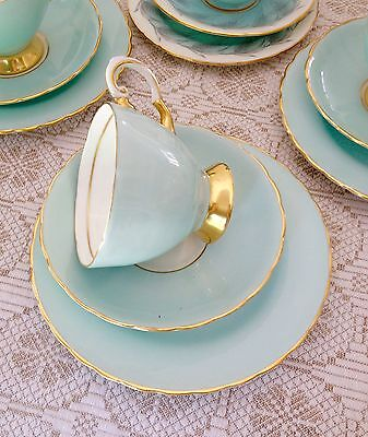 English Fine Bone China Tea Trio Tea Set by Tuscan Set 1