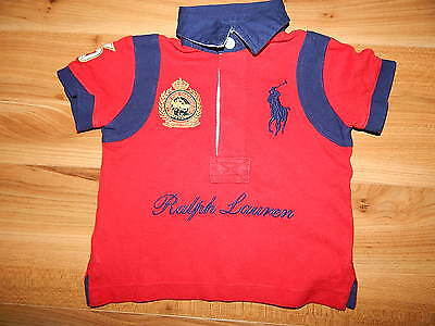 RALPH LAUREN boys red polo top 12 months *I'll combine postage