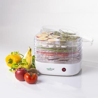 NutriChef PKFD06 Electric Countertop Food Dehydrator, White