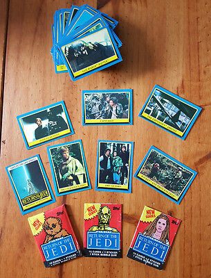 Star Wars Return Of The Jedi Series Two Trading Card Set + 1 Pack & 2 Wrappers